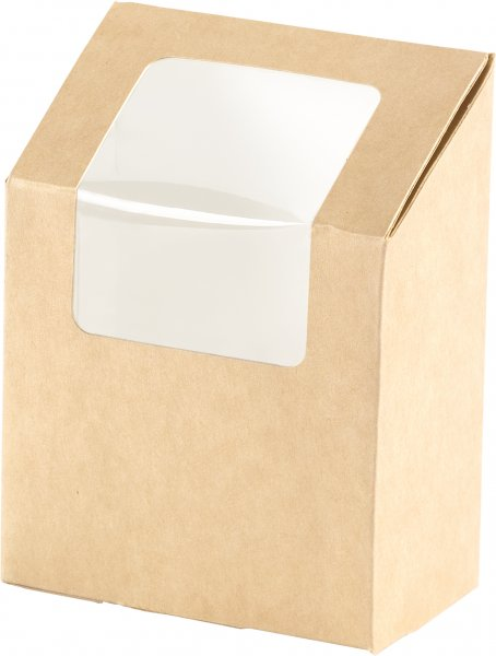 """Karton/PLA Wrapbox mit Fenster, Braun, 5,5 dl, """"ecoecho"""""""