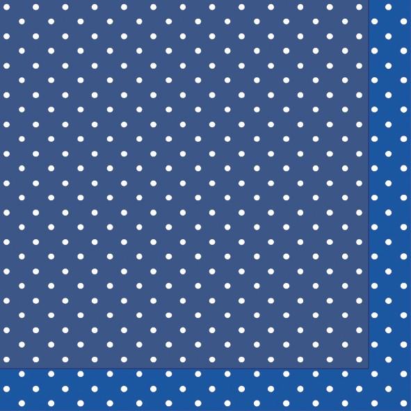 Papierservietten blau, 24x24 cm