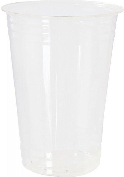 Bio Plastikgläser, transparent, 39 cl