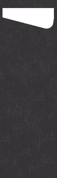 Bestecktasche Papier, schwarz, 7x23 cm