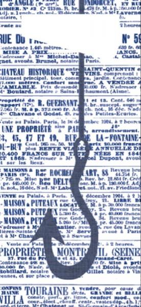 Bestecktasche Papier, by th sea mit dunkelblauer Serviette, 8.5x19 cm