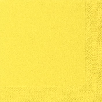 Papierservietten, gelb, einfarbig, 33x33cm, 50 Stk.