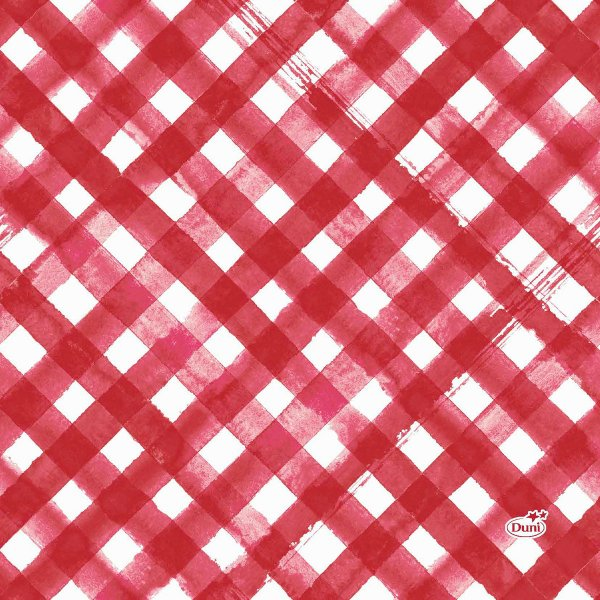 Papierservietten, Rot, Weiss, 33 x 33 cm