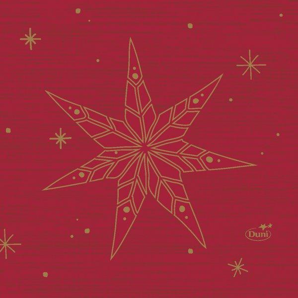 Papierservietten, Rot, 24 x 24 cm, Star Stories Red