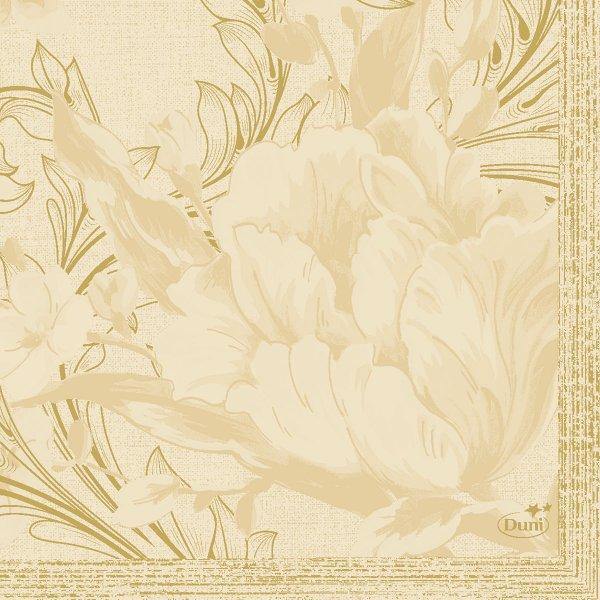 Papierservietten, crème, 24 x 24 cm
