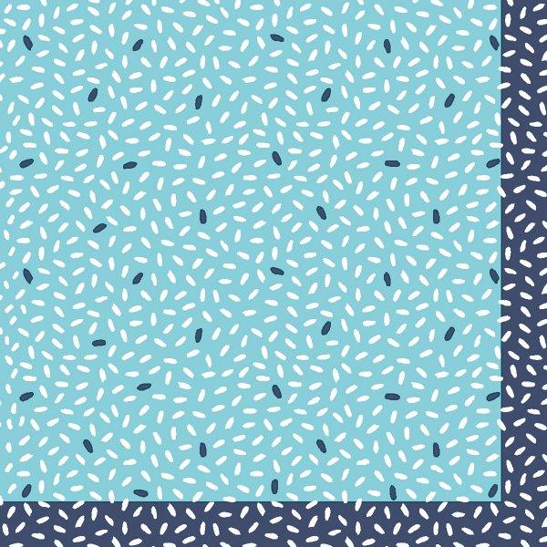 Papierservietten, blau, 24x24cm