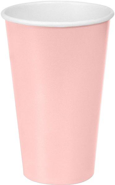 Bio Pappbecher, rosa, 50 cl