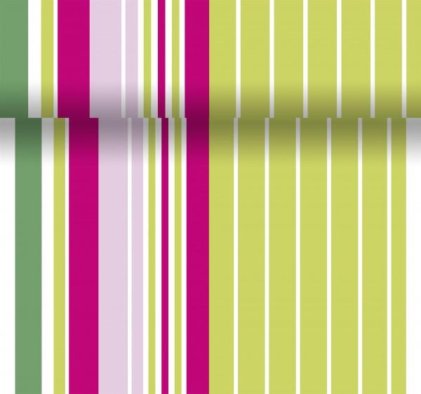 Tischset, Tischläufer, Tête-à-Tête Papier grün, rosa, 40x480cm