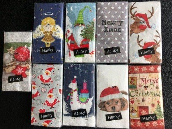 Duni Taschentücher Tissue Weihnachten, 9 Pack