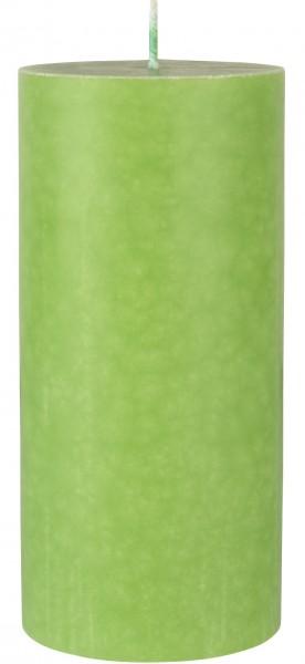 Stumpenkerze, hellgrün, 15 x ø 7 cm, ca. 45 Std.