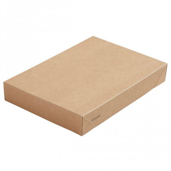 "Karton/PLA Deckel, Braun, ""Viking ecoecho Brick"""