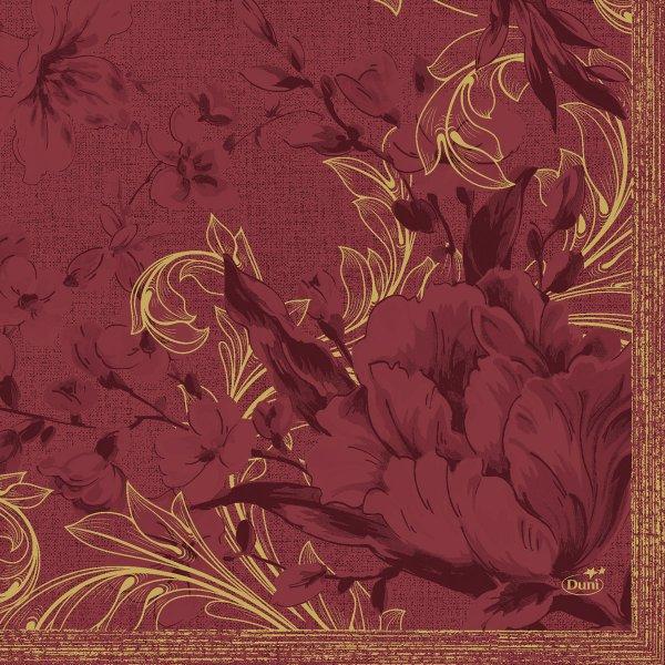 Papierservietten, bordeaux, 33 x 33 cm