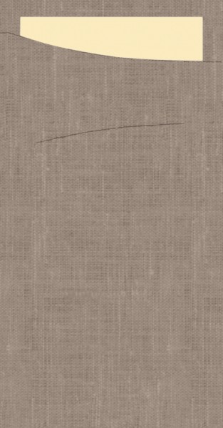 Bestecktasche Dunisoft, grau, 11.5 x 23 cm