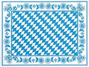 Tischset Papier, Blau, Weiss, 30 x 40 cm, 100 Stk.