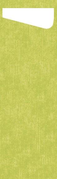Bestecktasche Papier, Hellgrün, 7 x 23 cm