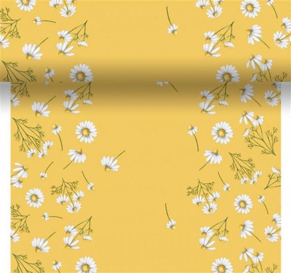 Tischset, Tischläufer, Tête-à-Tête Papier, Gelb, Weiss, 40 x 480 cm