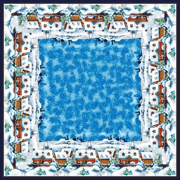 Mitteldecke Papier, Weiss, Blau, 84 x 84 cm