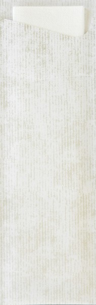 Bestecktasche Papier, weiss, 7x23cm