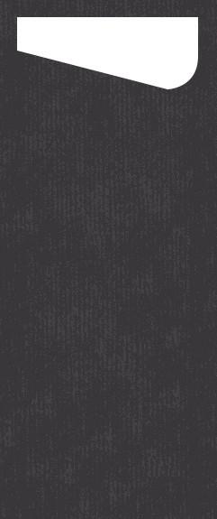 Bestecktasche Dunisoft, schwarz, 11.5 x 23 cm