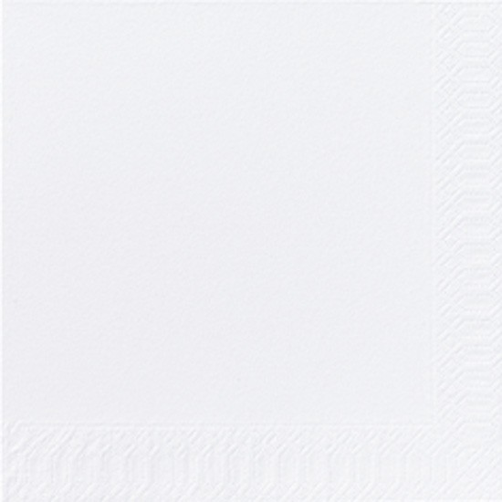 Papierservietten, weiss, einfarbig, 24 x 24 cm