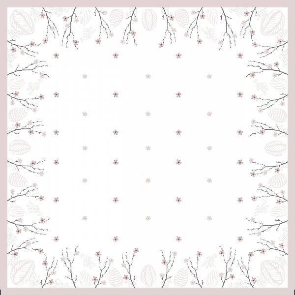 Mitteldecke Papier, weiss, rosa, 84x84 cm
