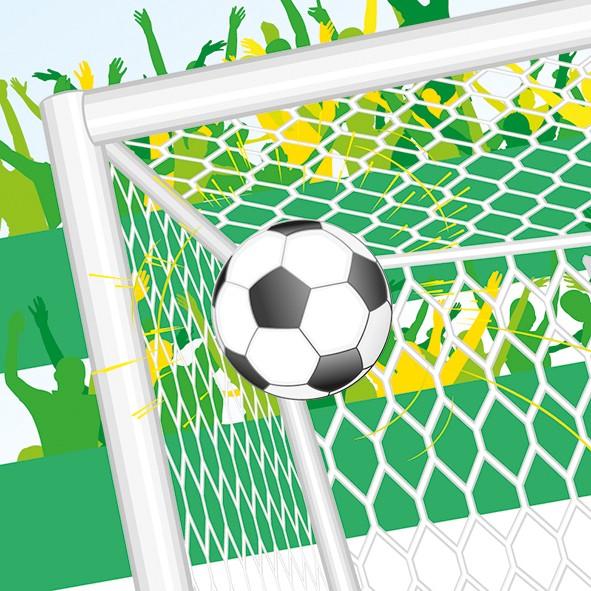 Papierservietten, grün, 33x33cm, Goal