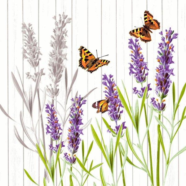 Papierservietten, violett, 33 x 33 cm