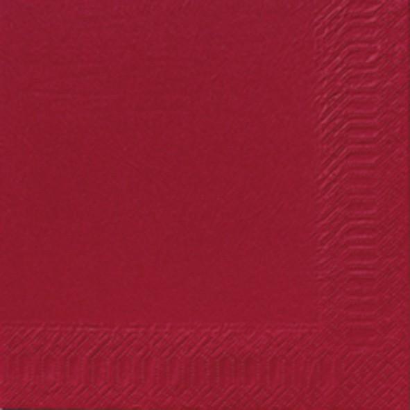 Papierservietten, rot, einfarbig, 24x24cm