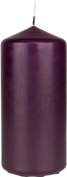 Stumpenkerze, dunkelviolett, 15 x ø 7cm, ca. 62 Std.