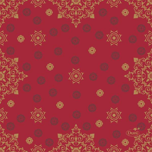 Papierservietten, Rot, Gold, 24 x 24 cm