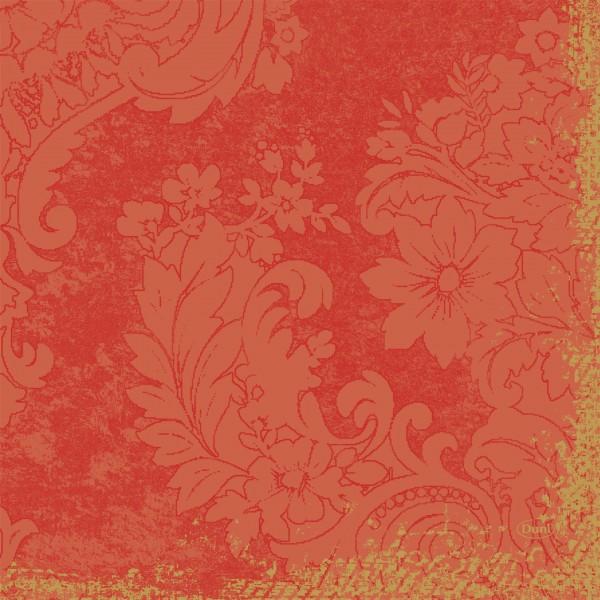 Papierservietten, orange, 33 x 33 cm, 20 Stk.