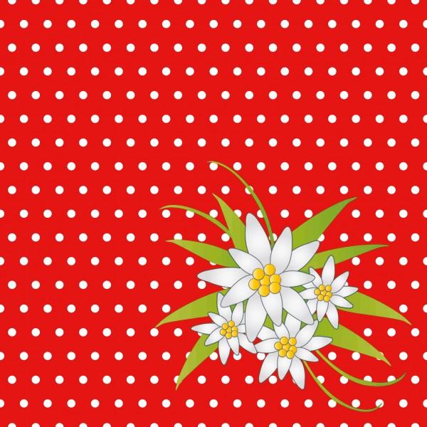 Papierservietten Rot 33x33 Cm Edelweiss Rot Tischdeko Shop Ch