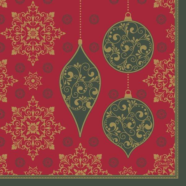 Papierservietten, Rot, Grün, 33 x 33 cm