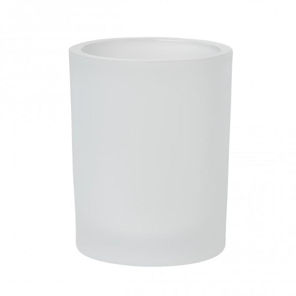 Kerzenhalter Flexible, Glas, weiss, 100 x 80 mm