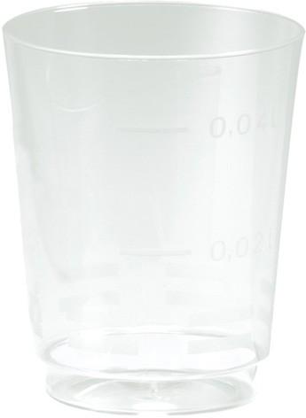 Schnapsglas Plastik, transparent, 4,9cl