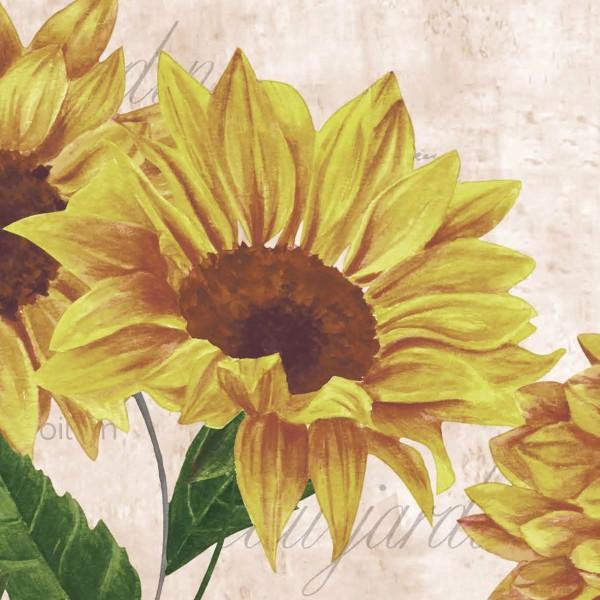 Papierservietten, Rosa, Gelb, 24 x 24 cm