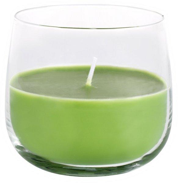 Kerzenglas Ellie, hellgrün, 7,2 x ø 8 cm, ca. 20 Std.