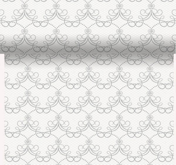 Tischset, Tischläufer, Tête-à-Tête Papier, weiss, grau, 40x480cm ...