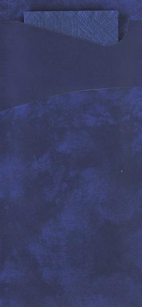Bestecktasche Papier, dunkelblau 8.5 x 19 cm