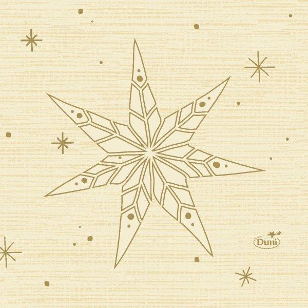 Papierservietten, Crème, 24 x 24 cm, Star Stories Cream