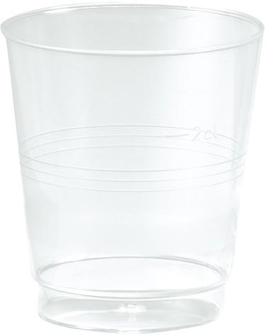 Schnapsglas Plastik, transparent, 3cl