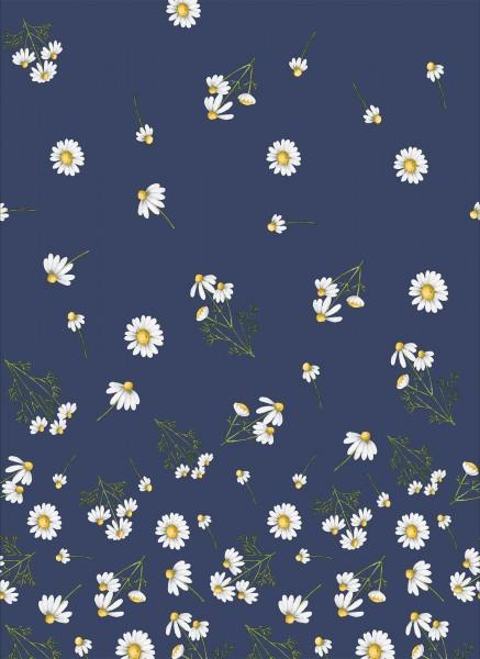 Tischdecke Papier, Blau, Weiss, 138 x 220 cm