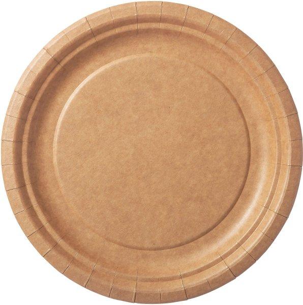 Bio Pappteller, braun, ø 18 cm