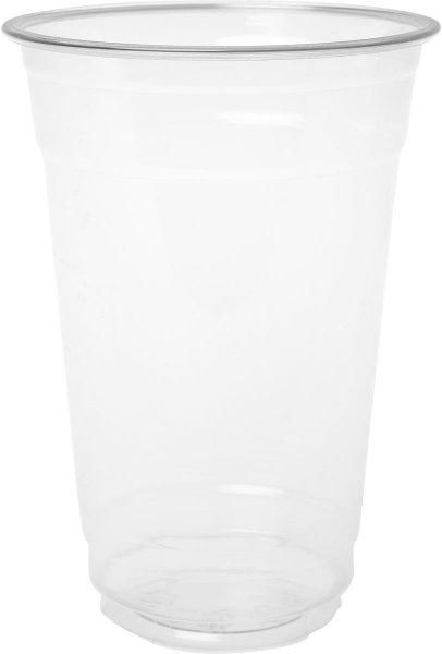 Bio Plastikgläser, transparent, 53 cl