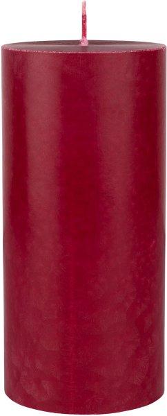 Stumpenkerze, bordeaux, 15 ø 7 cm, ca. 45 Std.