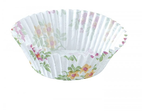 Papier-Backförmchen 25x45mm floral 100 Stück