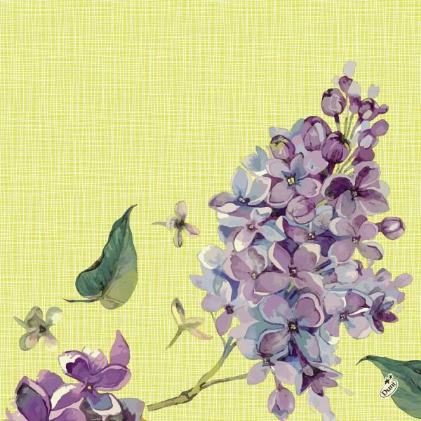 Papierservietten, Lila, Grün, 40 x 40 cm