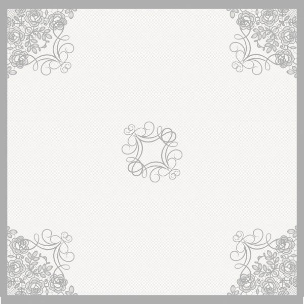 Mitteldecke Papier, Milena, 84x84cm