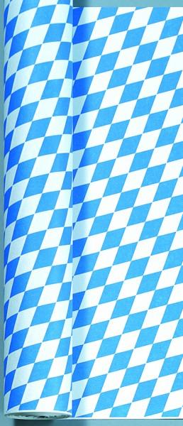 Tischtuchrolle Papier, Blau, Weiss, 1 x 50 m