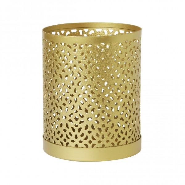 Kerzenhalter Bliss, Metall, gold, 100 x 80 mm